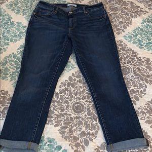 Ann Taylor LOFT Curvy Skinny Crop Jeans Sz 10